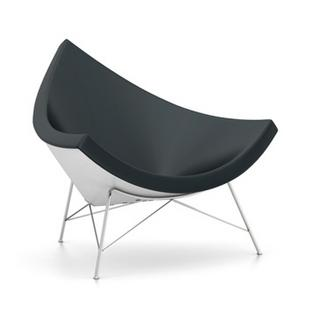 Coconut Chair Leather|Nero
