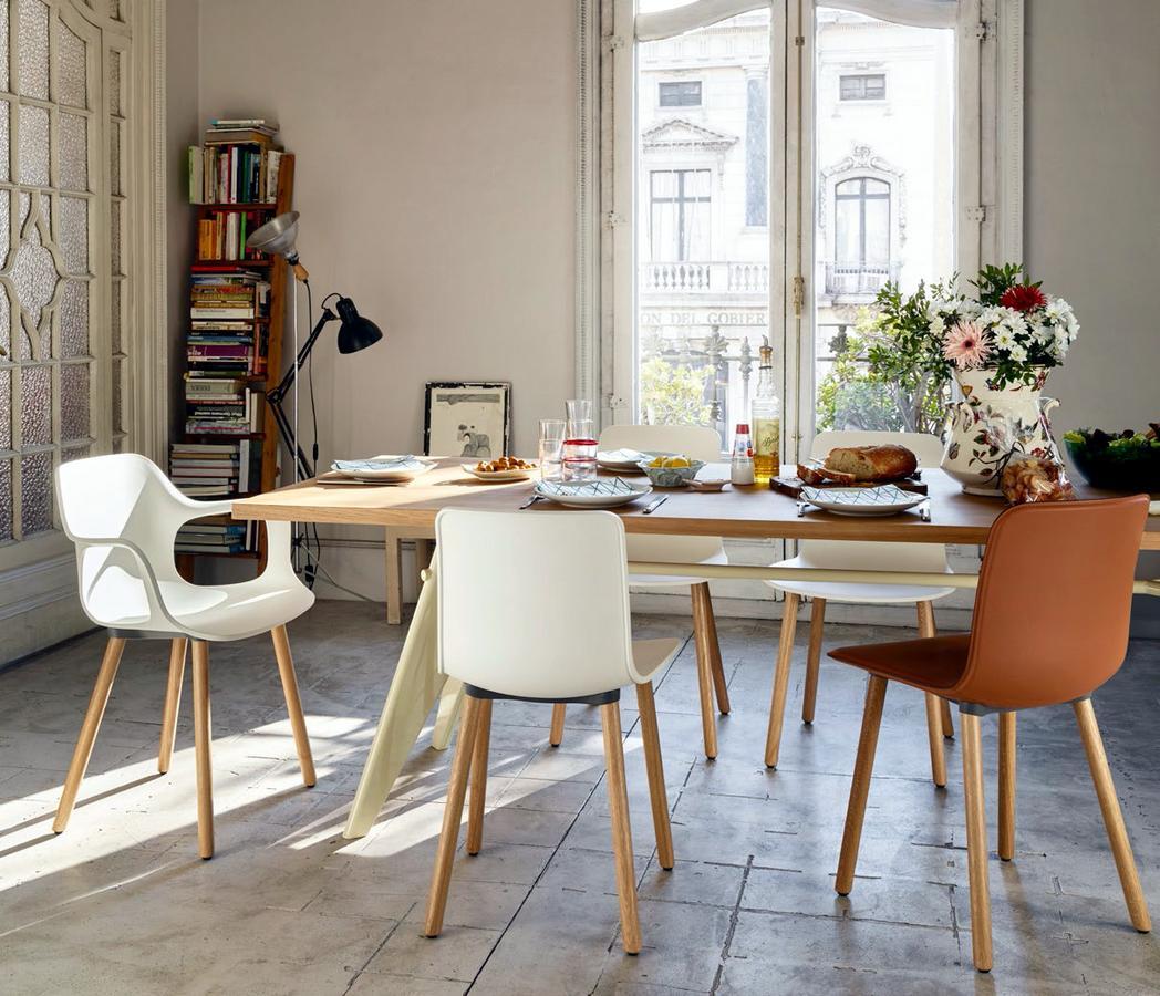 vitra em table by jean prouv 1950 designer furniture by. Black Bedroom Furniture Sets. Home Design Ideas