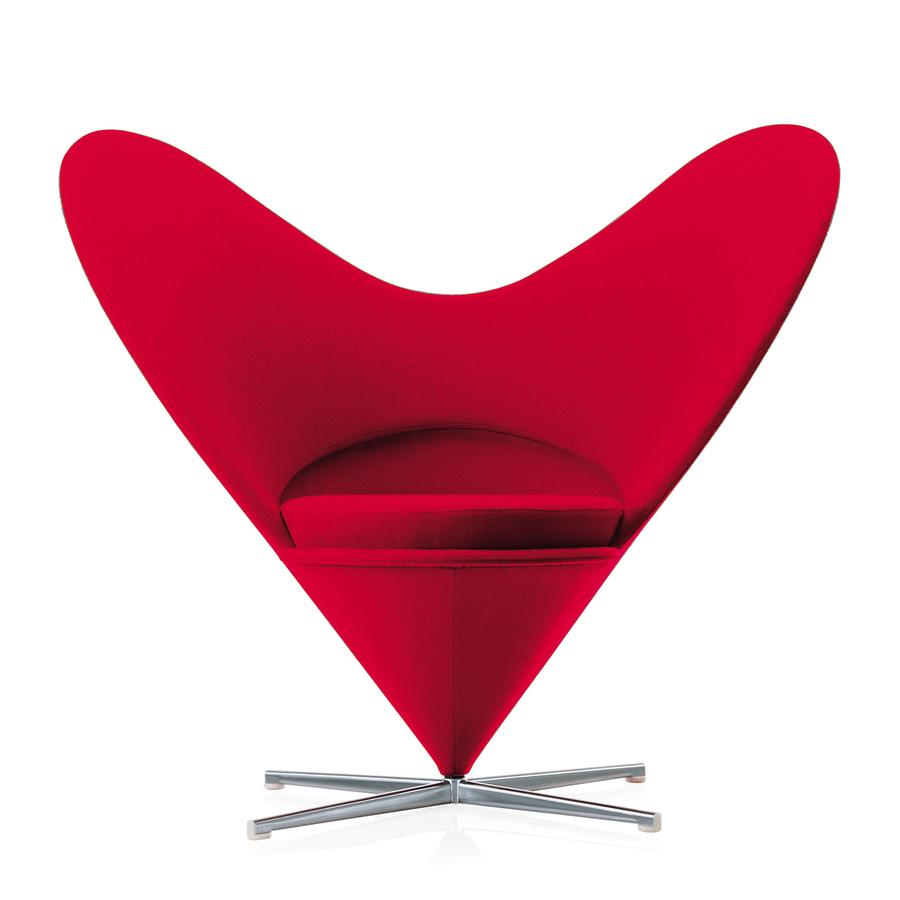 Vitra Heart Cone Chair By Verner Panton 1959 Designer Furniture By