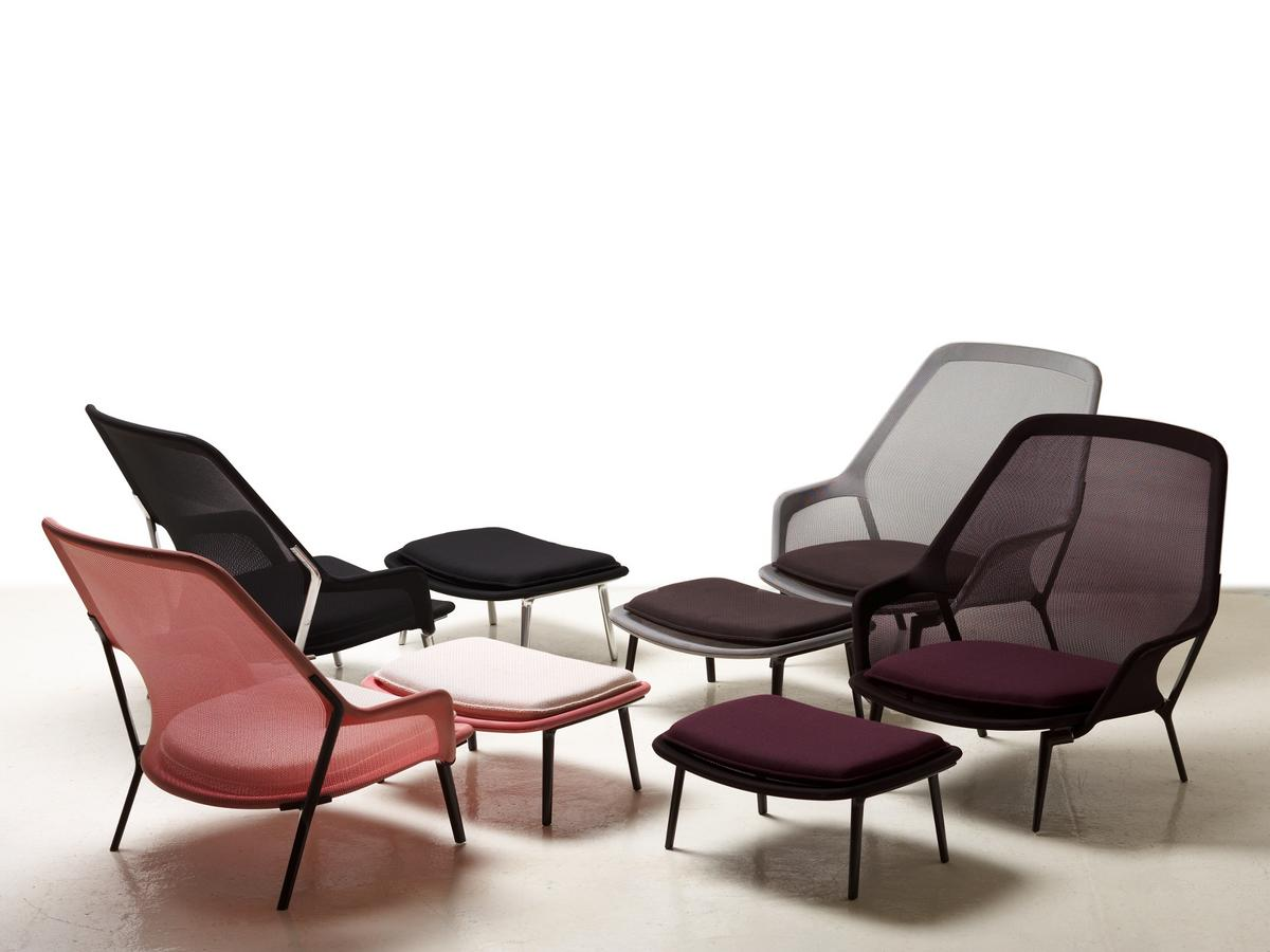 vitra slow chair ottoman by ronan erwan bouroullec 2007. Black Bedroom Furniture Sets. Home Design Ideas
