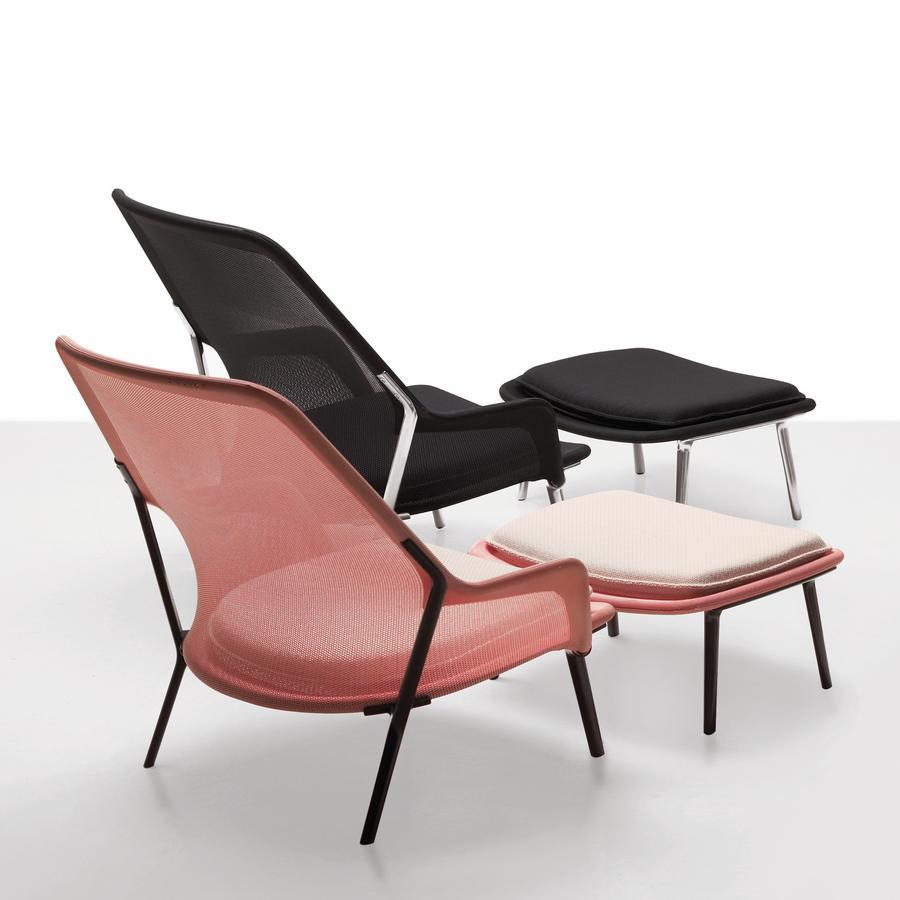 Vitra Slow Chair Ottoman by Ronan & Erwan Bouroullec 2007