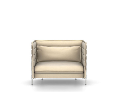 Vitra Alcove Sofa Love Seat H94 X W126 5 X D84 Cm Laser Ivory