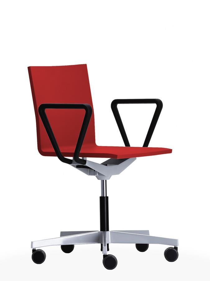 vitra 04 atelier chair with armrests bright red by maarten van severen 2000 designer. Black Bedroom Furniture Sets. Home Design Ideas