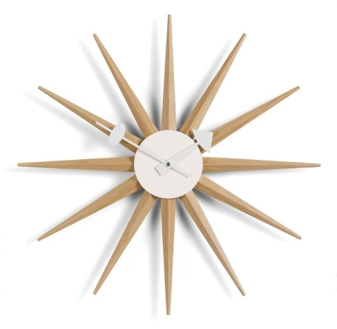 vitra sunburst clock by george nelson 1949 designer furniture by. Black Bedroom Furniture Sets. Home Design Ideas