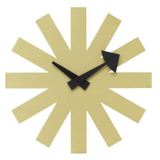 Asterisk Clock Brass