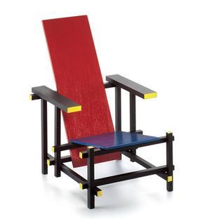 Vitra rood blauwe stoel miniature by gerrit t rietveld 1918 designer furniture by - Vat stoel ...