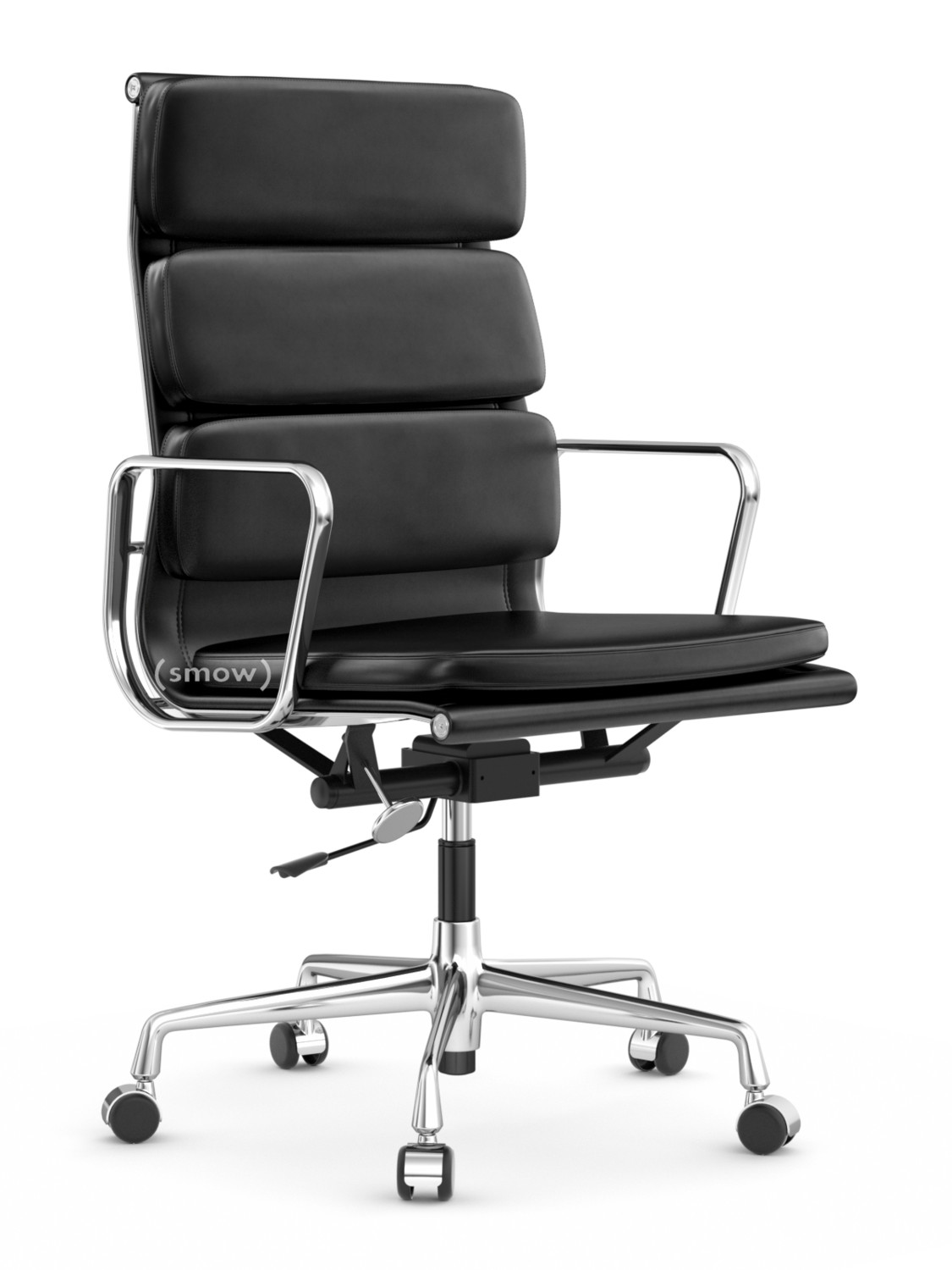 Vitra soft pad group ea 219 chrome plated nero by for Eames aluminium chair replica