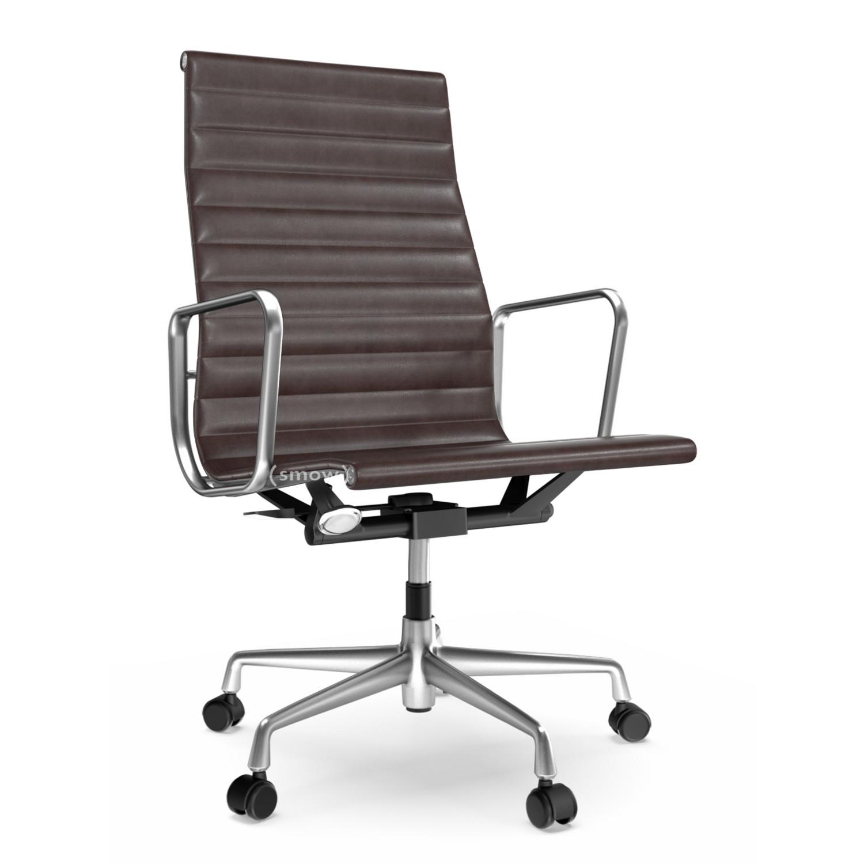 Vitra Aluminium Group EA 119 polished Leather Chocolate  : vitra eames aluminium chair ea119 poliert leder chocolatezoom  from www.smow.com size 1125 x 1500 jpeg 136kB