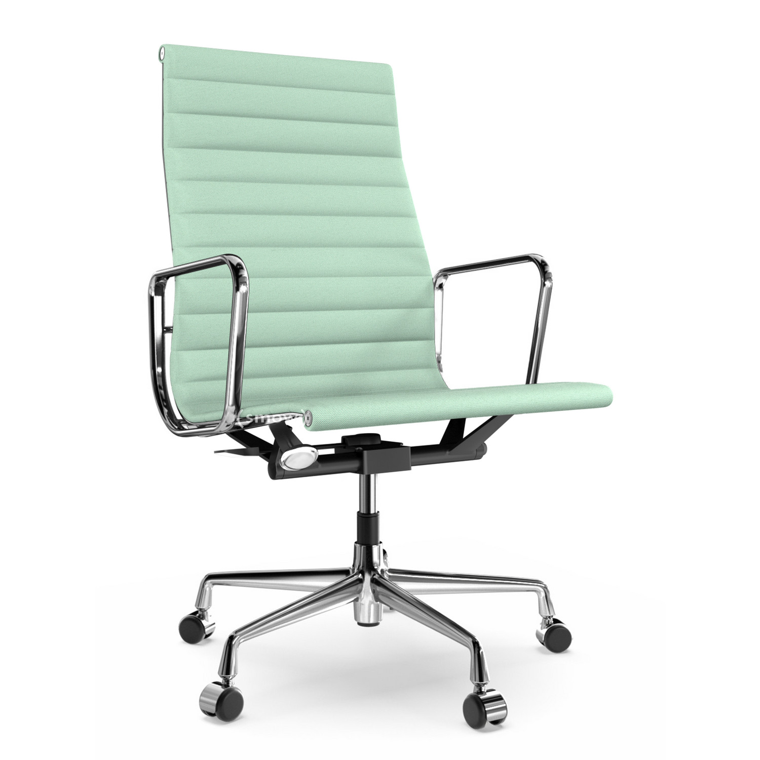 Vitra Aluminium Group Ea 119 Chrome Plated Hopsak Mint Ivory By Charles Ray Eames 1958 Designer Furniture By Smow Com