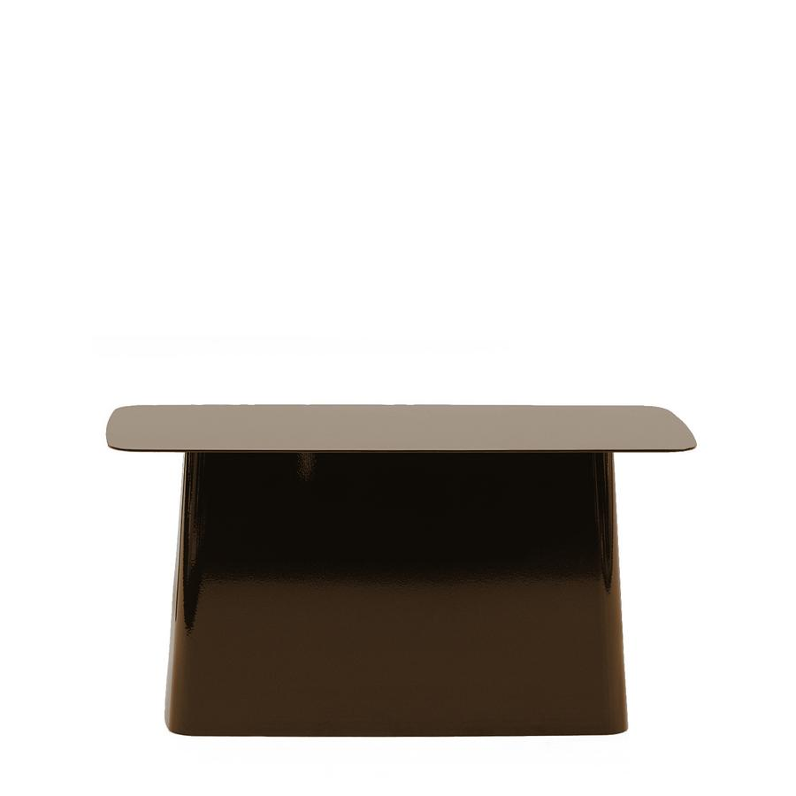 Vitra Metal Side Table.Vitra Metal Side Table Chocolate Large H 35 5 X B 70 X T 31 5 Cm