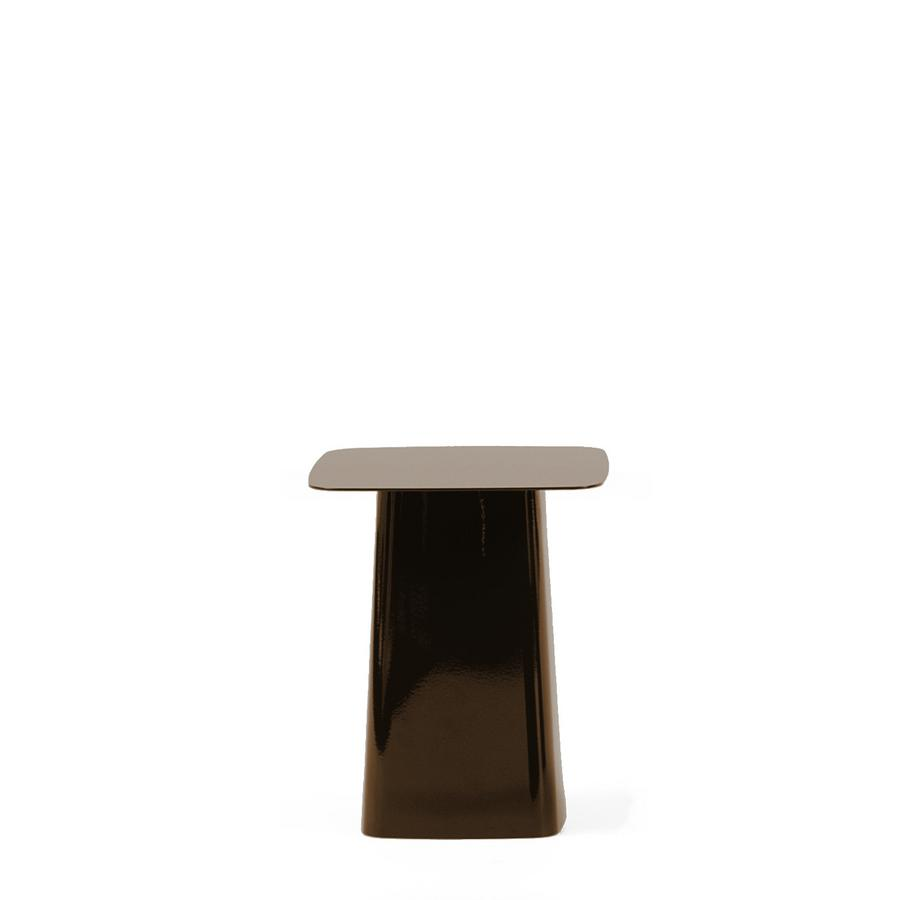 Vitra Metal Side Table.Vitra Metal Side Table Chocolate Small H 38 X B 31 5 X T 31 5 Cm