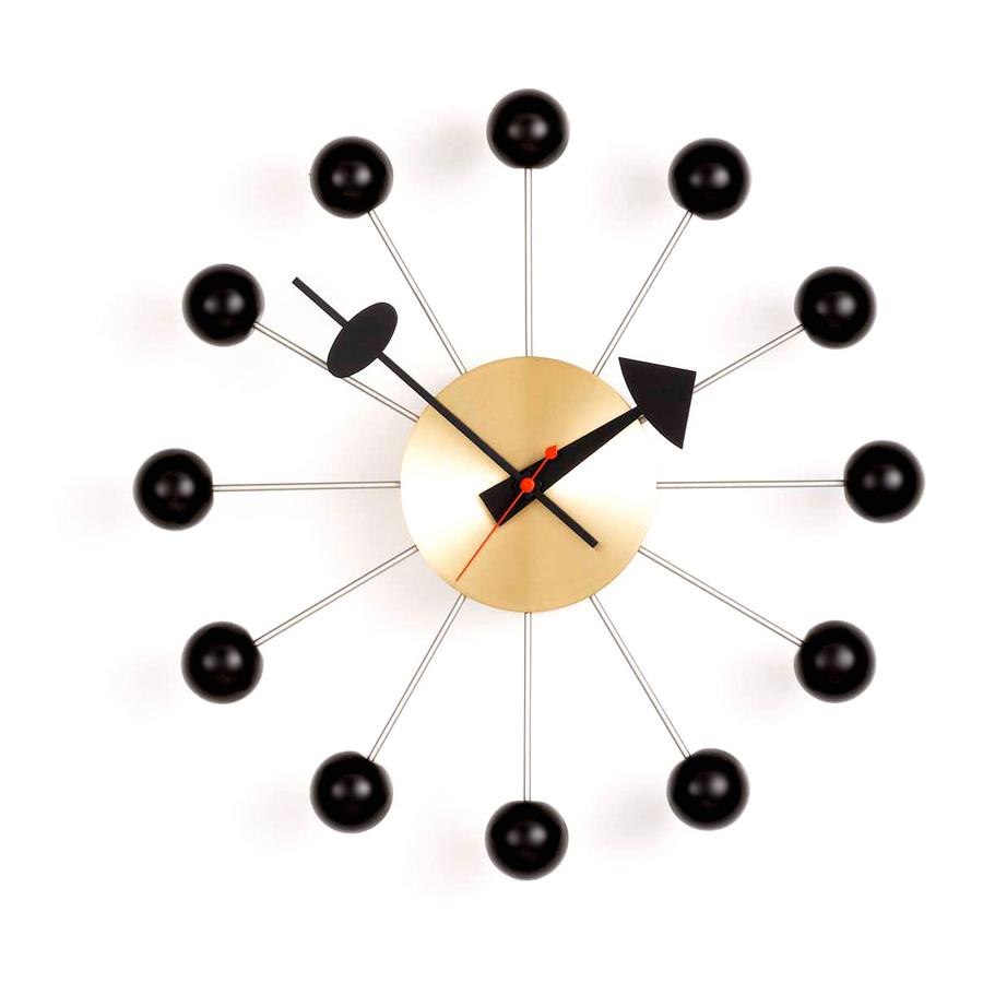 vitra ball clock brass by george nelson 1948 designer. Black Bedroom Furniture Sets. Home Design Ideas