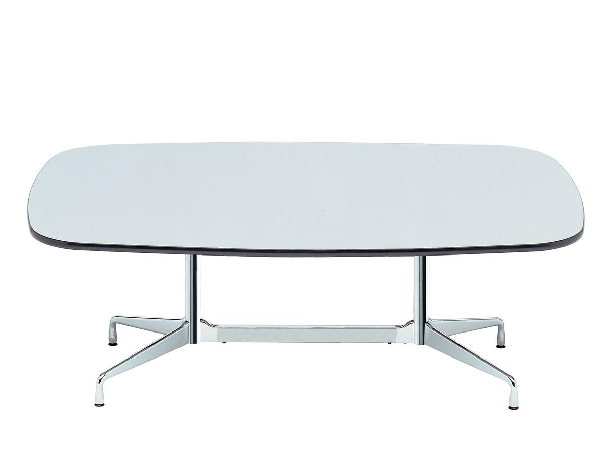 vitra eames segmented table l 213 x d 107 cm hpl white with black plastic edges base chrome. Black Bedroom Furniture Sets. Home Design Ideas