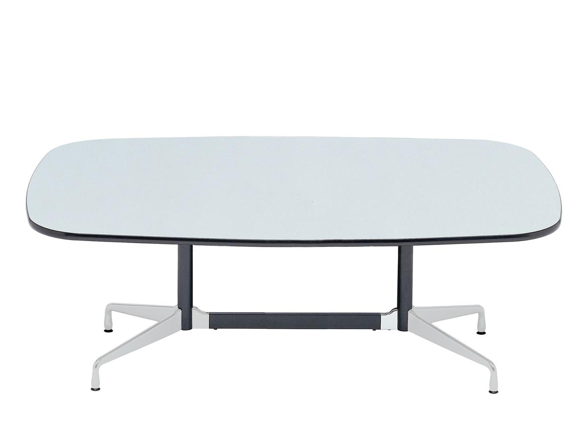 vitra eames segmented table l 213 x d 107 cm hpl white with black plastic edges base polished. Black Bedroom Furniture Sets. Home Design Ideas