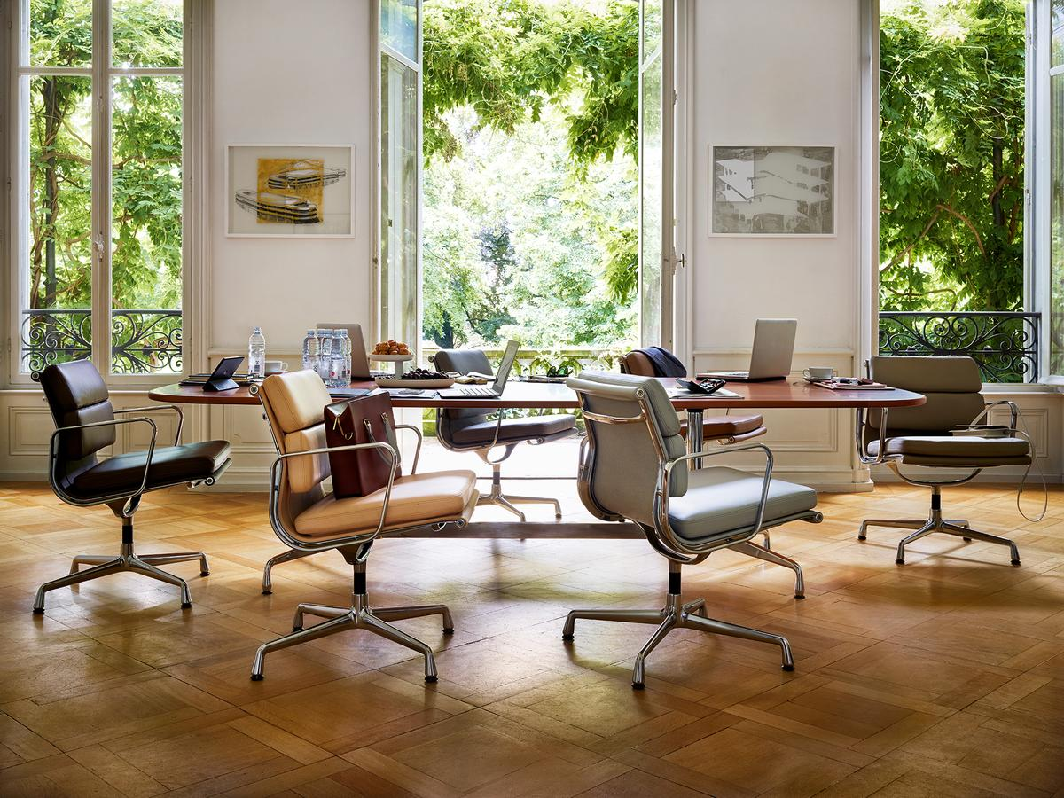 vitra eames segmented table by charles ray eames 1964 designer furniture by. Black Bedroom Furniture Sets. Home Design Ideas