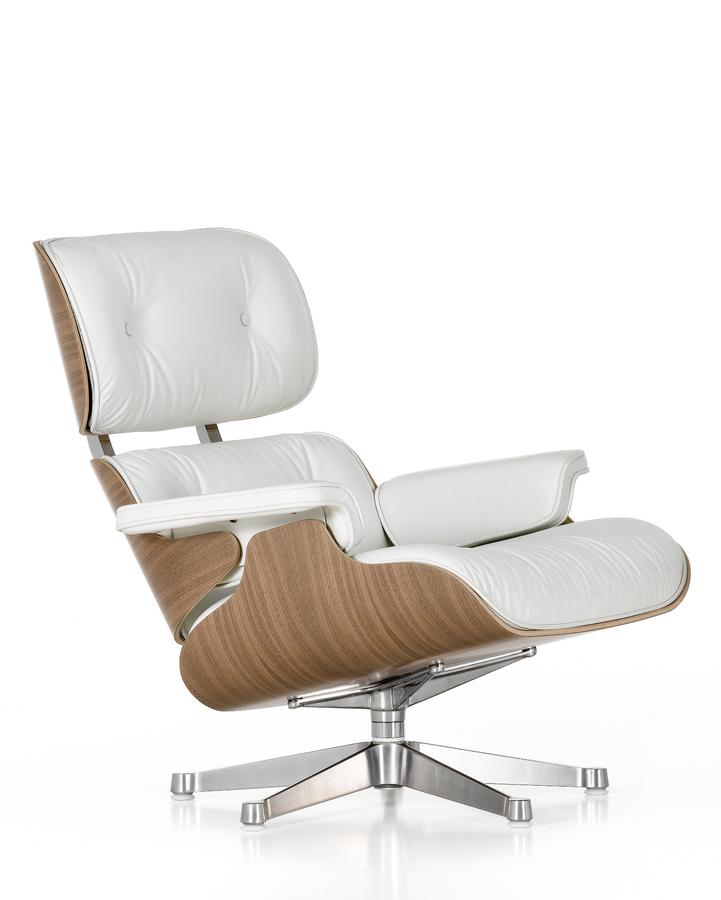 Vitra lounge chair white by charles ray eames 1956 for Eiermann replica