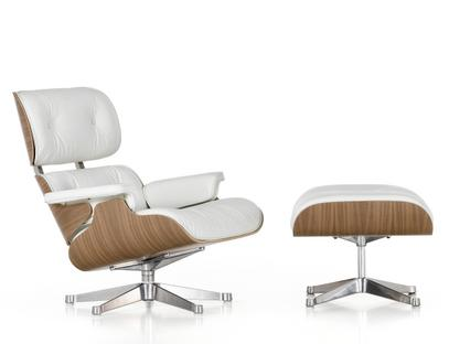 Lounge Chair & Ottoman - White Version