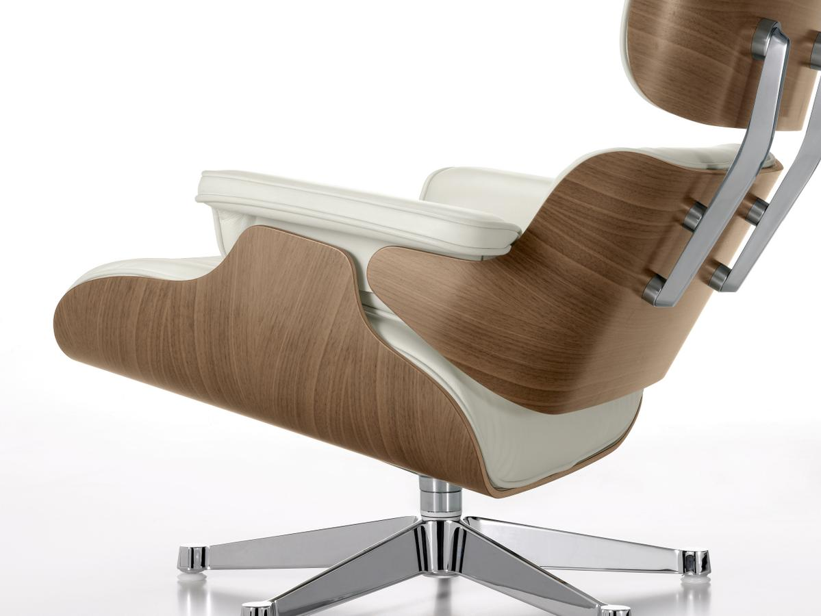 Lounge Chair Ottoman White Version.