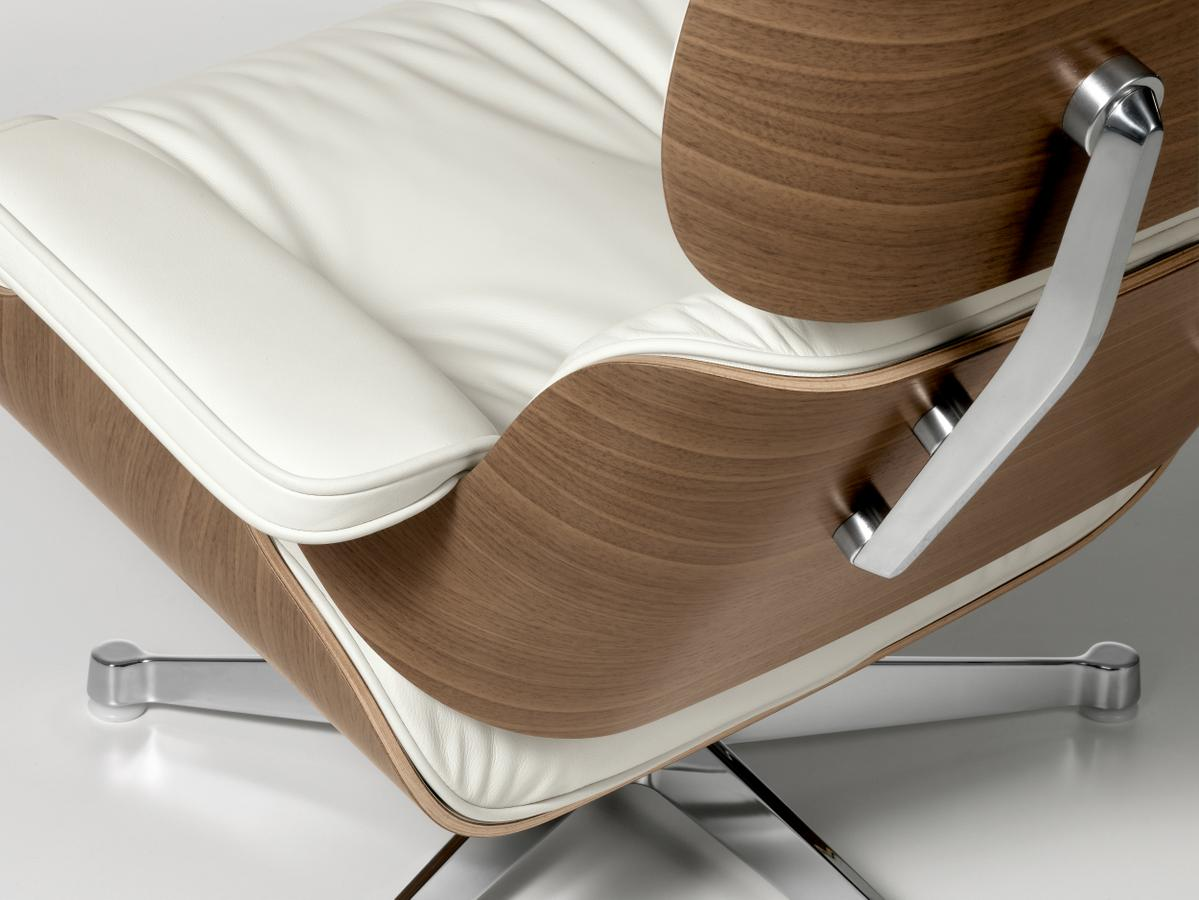 Vitra lounge chair ottoman white version 84 cm original height 195 - Lounge chair eames prix ...