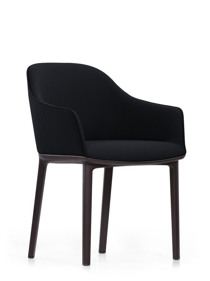 vitra softshell chair with four legged base by ronan. Black Bedroom Furniture Sets. Home Design Ideas