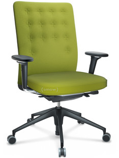 ID Trim With lumbar support|FlowMotion-with tilt mechanism, with seat depth adjustment|With 3D-armrests|5 star foot , basic dark plastic|Seat and back Plano|Avocado