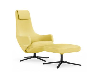 Repos Chair Repos & Ottoman|Fabric Mello Canary|41 cm|Basic dark