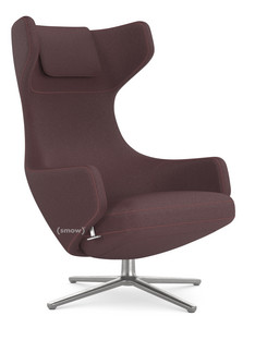 Grand Repos Chair Grand Repos|Fabric Cosy Aubergine|46 Cm|Polished