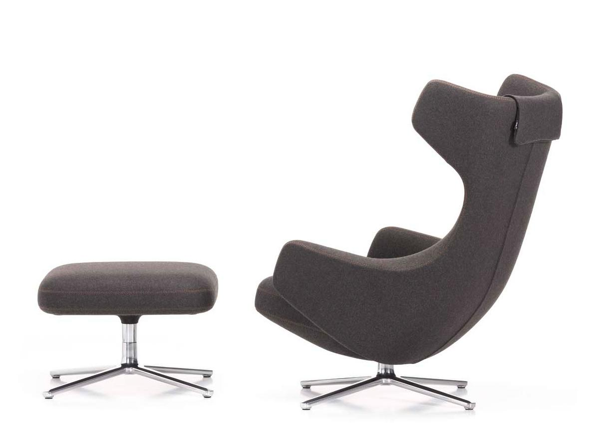 vitra grand repos chair grand repos fabric cosy classic grey 41 cm polished by antonio. Black Bedroom Furniture Sets. Home Design Ideas
