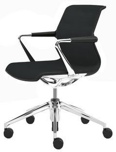 Unix Chair with Five Star Base Silk mesh asphalt|Soft grey