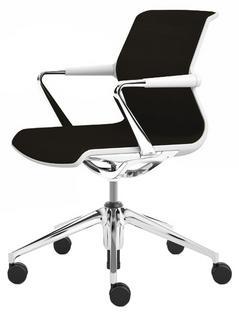 Unix Chair with Five Star Base Silk Mesh brown|Soft grey