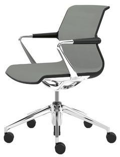 Unix Chair with Five Star Base Silk Mesh ice grey|Basic dark