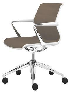 Unix Chair with Five Star Base Silk Mesh mauve grey|Soft grey