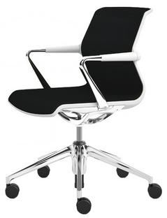 Unix Chair with Five Star Base Silk Mesh nero|Soft grey