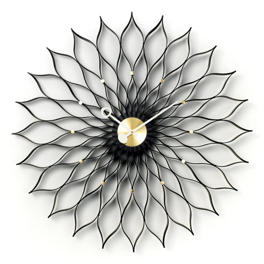 Sunflower Clock Black