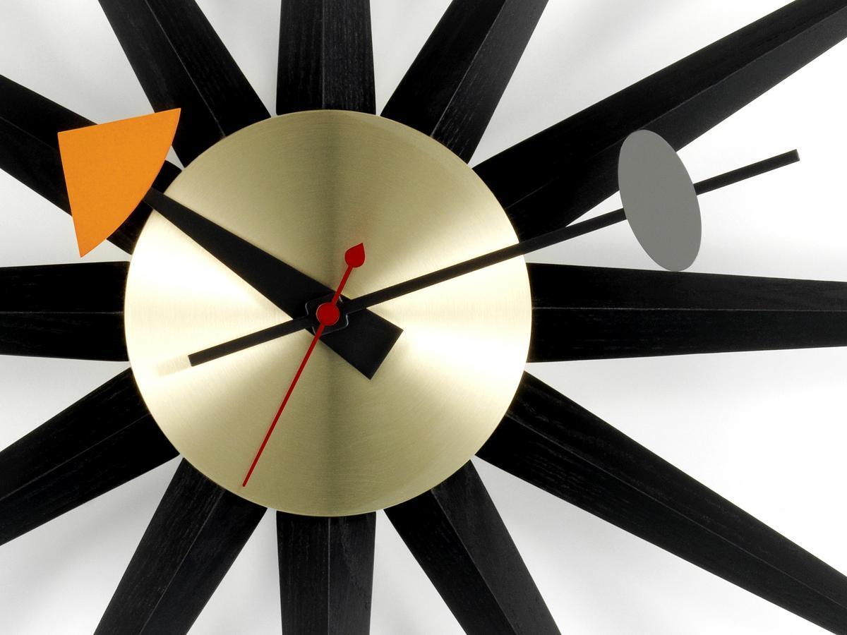 5f55009a1d36 Vitra Sunburst Clock Black by George Nelson