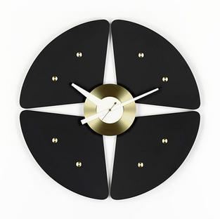 Petal Clock Black