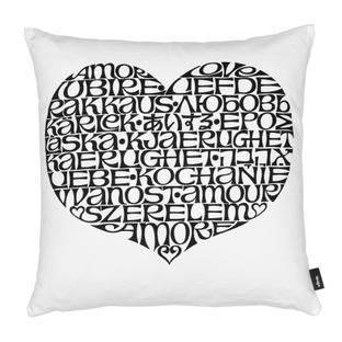 Graphic Print Pillows International Love Heart