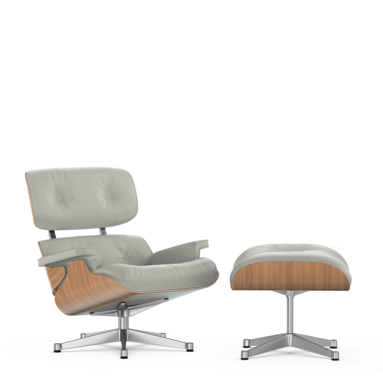 vitra lounge chair ottoman beauty versions walnut with white