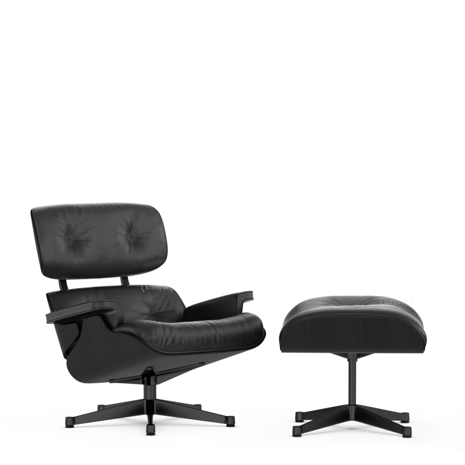 Awe Inspiring Vitra Lounge Chair Ottoman Beauty Versions Ash Black Asphalt 84 Cm Original Height 1956 Black Powdercoated Creativecarmelina Interior Chair Design Creativecarmelinacom