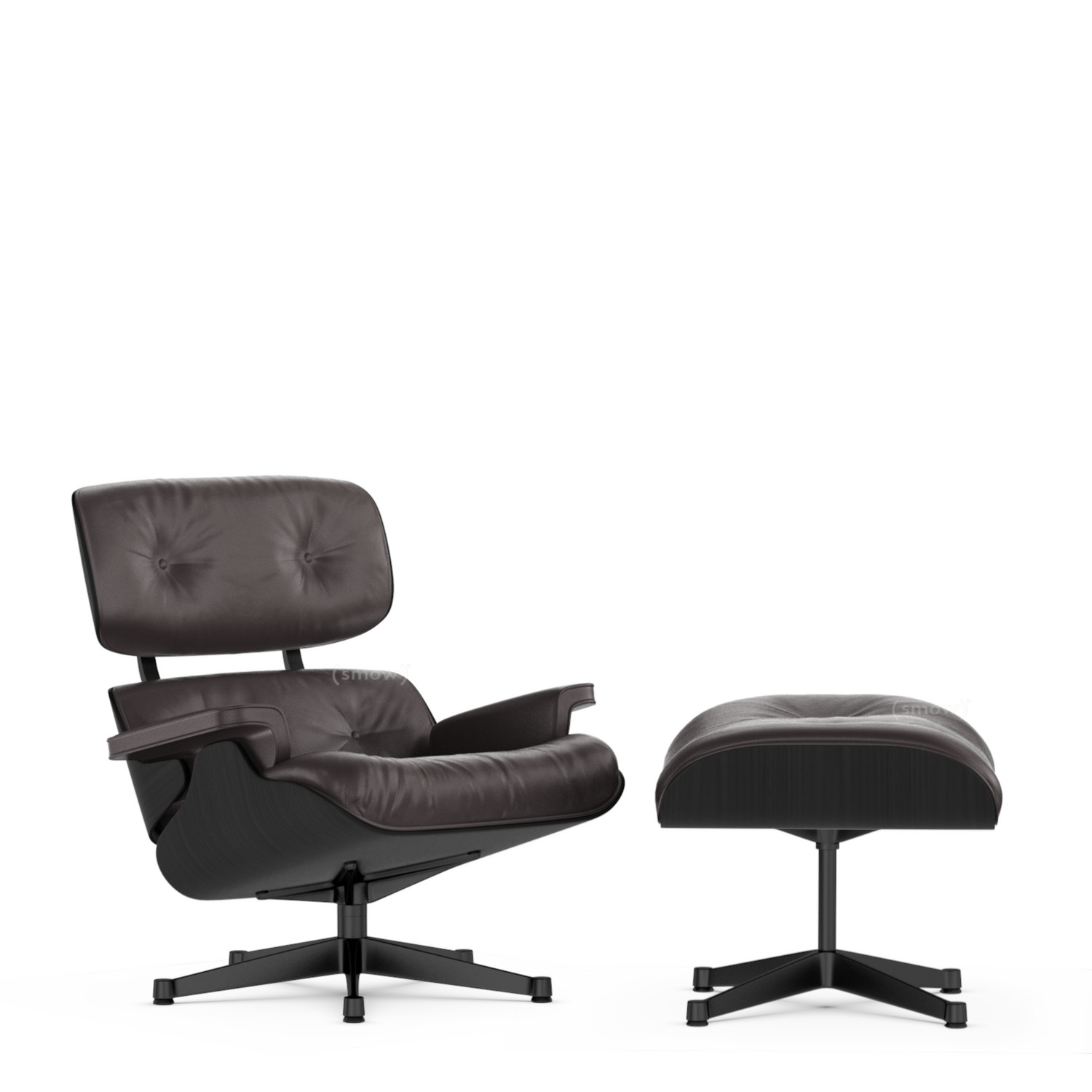 vitra lounge chair ottoman beauty versions by charles ray eames 1956 designer furniture. Black Bedroom Furniture Sets. Home Design Ideas