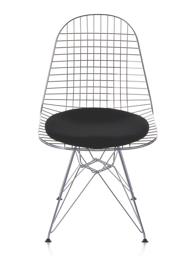 vitra seat cushion for wire chair dkr dkw dkx by charles ray eames 1951 designer. Black Bedroom Furniture Sets. Home Design Ideas