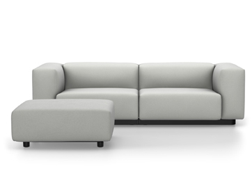Soft Modular Sofa Laser Stonegrey|With Ottoman