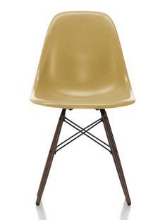 Eames Fiberglass Chair DSW Eames ochre light|Dark maple