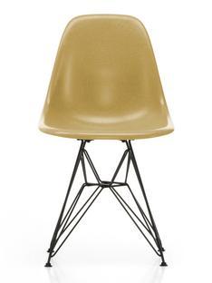 Eames Fiberglass Chair DSR Eames ochre light Powder-coated basic dark smooth