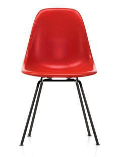 Eames Fiberglass Chair DSX Eames classic red|Powder-coated basic dark smooth