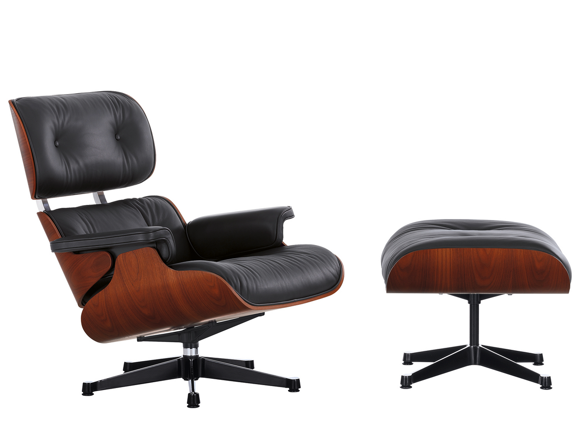 5x Lounge Chair : Vitra lounge chair ottoman limited edition mahogany by charles
