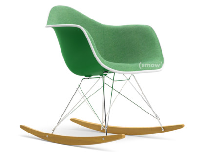 RAR with Upholstery Green|With full upholstery|Green / ivory|White|Chrome/yellowish maple