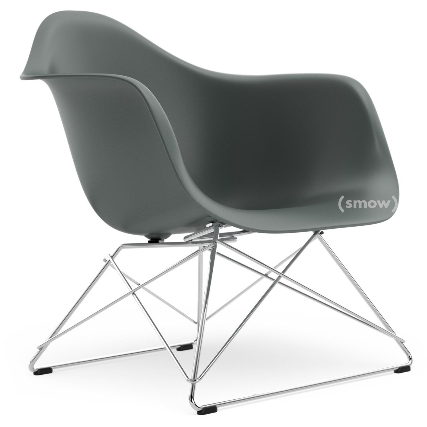 Vitra Lar Granite Grey Without Upholstery Chrome Plated By Charles Ray Eames 1950 Designer Furniture By Smow Com