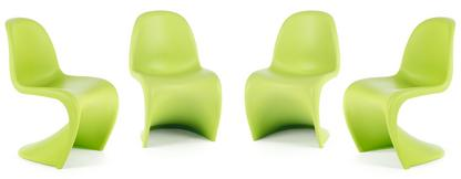 Panton Chair dark lime Promotion Set of 4