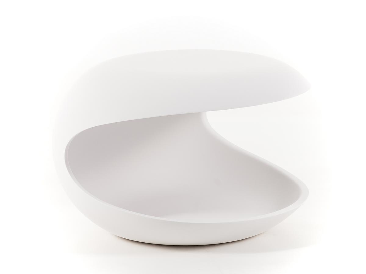 Zanotta Side Table White Shell by Salvatore Indriolo, 2010